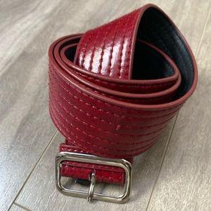 STEVEN any Steve Madden Red Belt